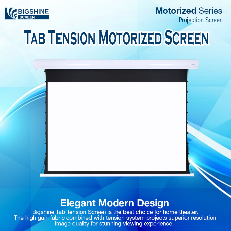 [BIGSHINE] Tab Tension Motorized Projector Screen