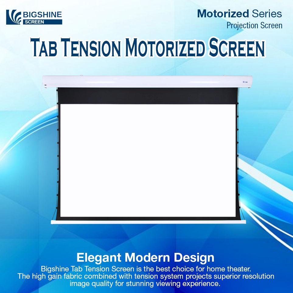 [BIGSHINE] Tab Tension Motorized Projector Screen