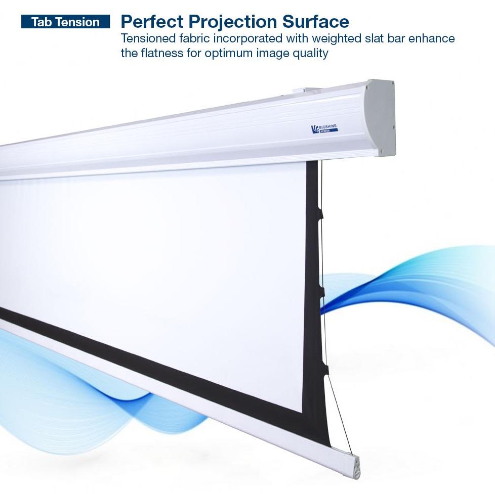 Bigshine tab tension motorized projector screen for Tab tensioned motorized projection screen