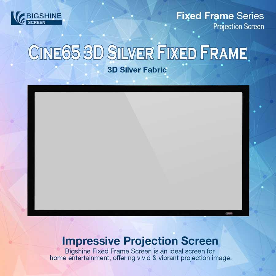 BIGSHINE] Cine65 3D Silver Fixed Frame | Bigshine Store